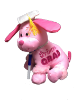 "12"" Grad. pink dog/pen (SKU: EK-2443G)"