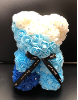 "10"" Diamond two-tone blue rose bear (SKU: F286485BL)"