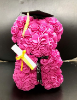 "10"" Graduation rose bear w/box (SKU: F286366G)"