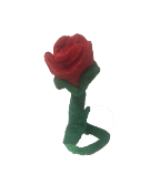 "12"" Bendable plush red rose"