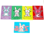 HAPPY BUNNY MAGNETS