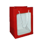 "11"" Red gift bag/window"
