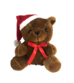 "7.5"" Christmas brown bear"