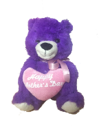 "10"" Mother's day purple bear"
