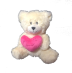"7"" V-Day Beige bear"