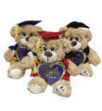 "10"" Grad brown bear w/ pic frame(available 4/15)"