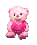 "10"" Mother's day pink bear"