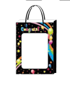 "14"" Grad black gift bag(available 5/25)"