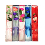 "20"" Gift box w/silk roses, 5 colors"