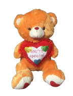 "26"" Valentine brown bear/lights/song"