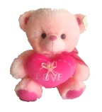 "15"" Valentine pink bear/lights/song"