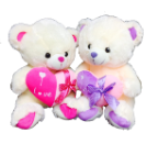 "15"" Valentine 2 asst. bear/light/song"