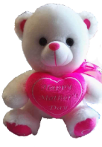 "10"" Mother's day white bear"