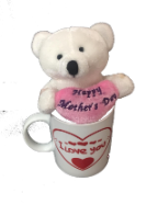 "6"" Mothers day white bear"