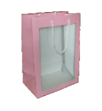 "11"" Pink gift bag/window"