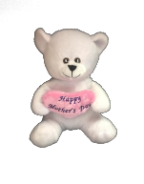 "6"" Mother's day white bear"