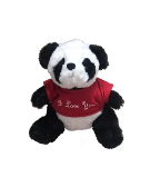 "8.5"" Valentine panda in T-shirt"