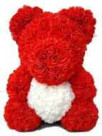 "14"" Red Rose Bear with box"