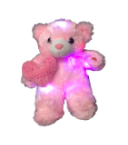 "12"" Mothers day LED pink bear"