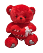"26"" Valentine red bear/lights/song"