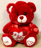"10"" Valentine's Day Bear with Song"
