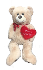 "44"" V-day brown/beige bear"