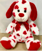 "10"" Valentine's Day Ty-Dye Dog"