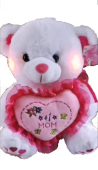 "12"" Mother's day white bear/lights/song"