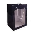 "11"" Black gift bag/window"