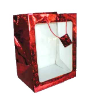 "20"" Red glitter gift bag/window (SKU: 60536)"