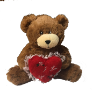 "7"" Valentine brown bear (SKU: EK-018/7BV)"
