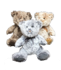 "17"" two tone fabric bears (SKU: K17-008M)"