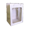 "14"" White gift bag/window (SKU: WB-M/W)"