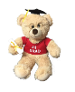 "17"" Grad. beige bear/glasses (SKU: EK-051G)"