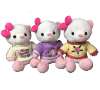 "10"" Mother's day pink bear in sweaters (SKU: EK-850/10PM)"