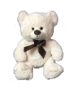 "17"" White bear (SKU: K18-047W)"
