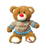 "13"" #1 Dad bear in sweater (SKU: KV17-008BD)"