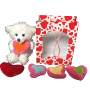 "6"" Valentine white bear/gift bag (SKU: SS-NRU6V)"