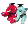 "15"" Grad. elephant/glasses (SKU: TF166023G)"
