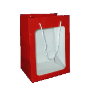 "11"" Red gift bag/window (SKU: WB-S/R)"