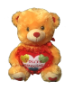 "12"" Valentine brown bear/lights/song"