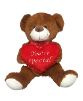 "22"" Valentine brown bear"