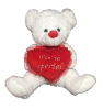 "22"" Valentine white bear"
