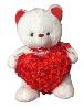 "12"" Valentine white bear"