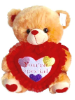 "18"" Valentine brown bear/lights/music"
