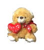 "10"" Valentine brown bear"