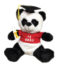 "15"" Grad. panda in red shirt"