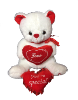"12"" Valentine white bears"