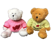 "10"" 2 color bears in asst. sweaters"