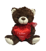 "10"" Valentine dark brown bear"